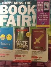 Book Fair comes  Nov. 10th