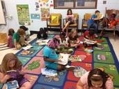 2nd graders enjoying their new books!