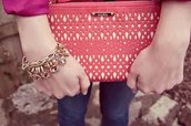 Double Clutch in Coral