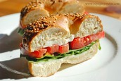 Turkey sesame seed and tomato sandwich
