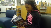 Jasmine Vick reads about the Tar Heels!