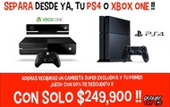 Reserva tu PS4 y Xbox One