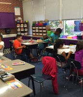 Mrs. Davis's class working away...