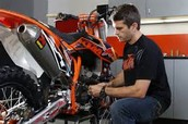 applying for a professional mechanic on a factory racing team