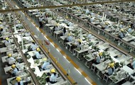 One of the many factories in China