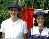 Elena (R) and Valerie (L) at the boarding school in Germany