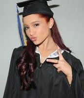 Ariana when she graduated