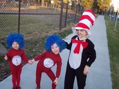 The Halloween when we were The Cat in The Hat