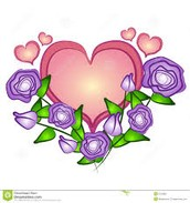 A pictures of flowers and hearts
