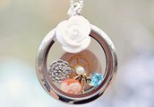 Show some love for your sorority with your very own living locket.