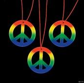 Yo vendo un arco iris Paz collar!