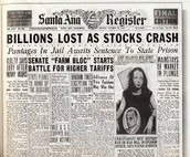 The stock crash in October 1929
