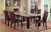 MARBALE TABLE WITH 6 CHAIRS