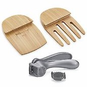 Garlic Press & Bamboo Claws Set
