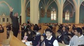 Mass Practice with Fr. Wichert...Thanks, Father!