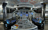Inside of the Discovery shuttle