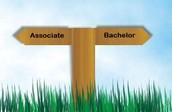 associate or bachelor degree