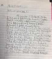 Beker's letter