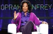 """Oprah Winfrey speaking on the set of """"The Oprah Winfrey Show"""""""