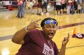 Coach Pettit having fun!