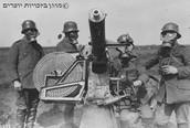 חיילים לובשים מסכות גז