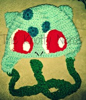Bulbasaur inspired hat
