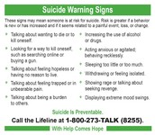 Know the warning signs for suicide risk