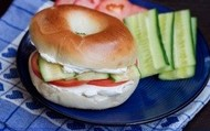 Cream Cheese & Veggie Bagel