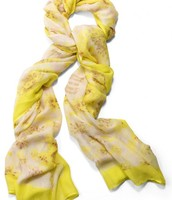 Citrine Floral Scarf - SOLD