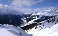 The snowy Austrian Alps