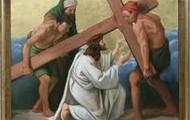 7.Pan Jezus upada pod krzyzem po raz drugi.