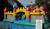 A bouncy castle