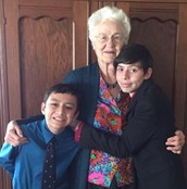 Charlene and two of her grandchildren.