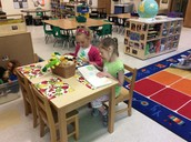 Room 5 girls on Reading Day