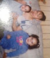 Mi mama, mi hermano y yo: