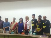 With the panelist and head start group