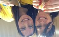 Lynninha e Eu...sorry está de cabeça pra baixo:(