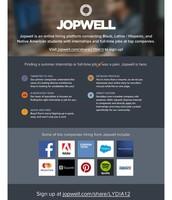 We are Jopwell.