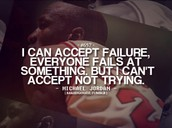 I can accept failure,  Everyone fails at something . I cant accept not trying