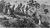 Slaves bearing excruciating work