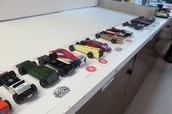 Cars all lined up