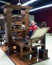 starting of the printing press