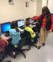 Students in Mrs. Lafave's Purple 6 math class work with our online math program, DIGITS.