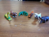 4th grade- Pinch & pull animal sculptures