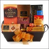 Godiva Connoisseur Gift Basket