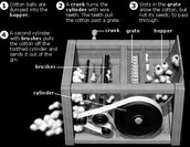 How does the cotton gin work