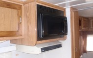 Cupboards and microwave