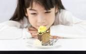 Girl and a cake