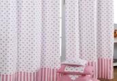 Multicolored curtains
