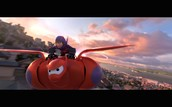 Baymax and Hiro soar!